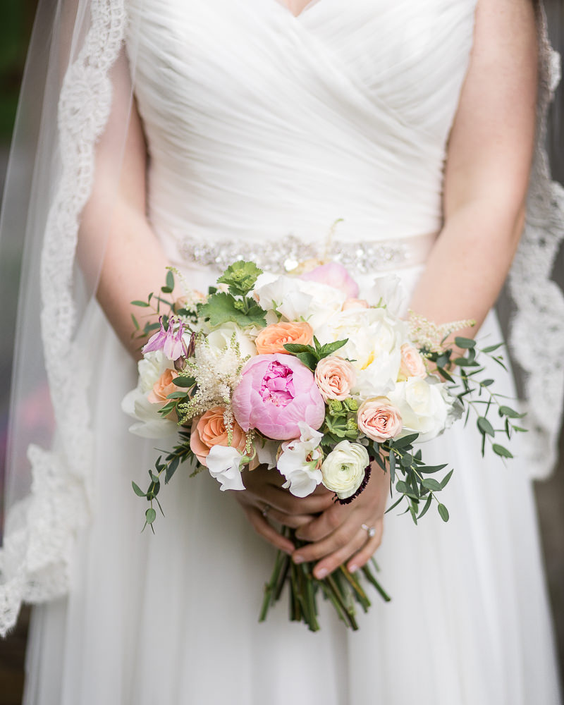 a summer peony bouquet by floral artistry