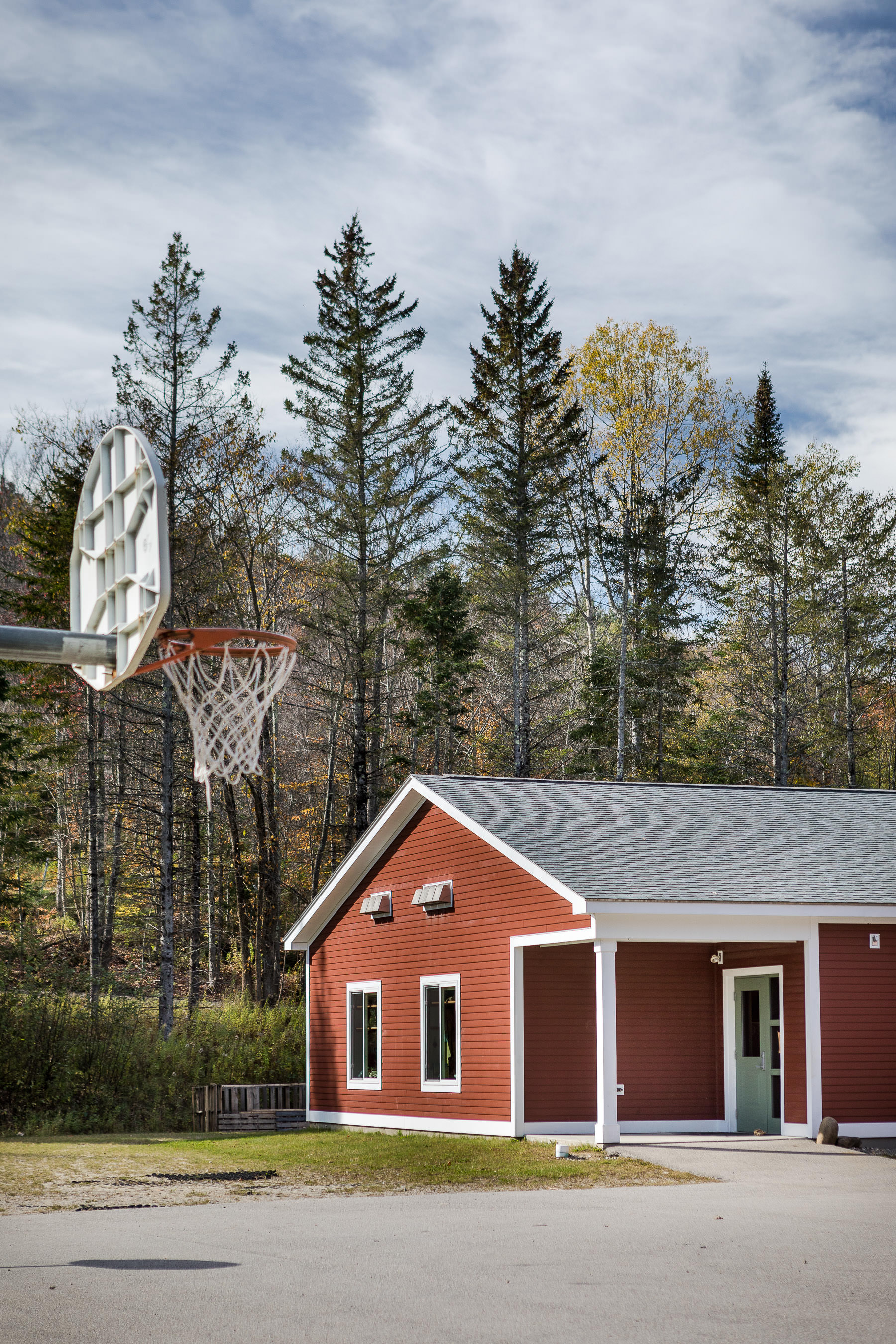 An exterior photo of the addition and renovated exterior of the Lincoln Elementary School in Vermont constructed by Neagley & Chase and photographed by Stina Booth