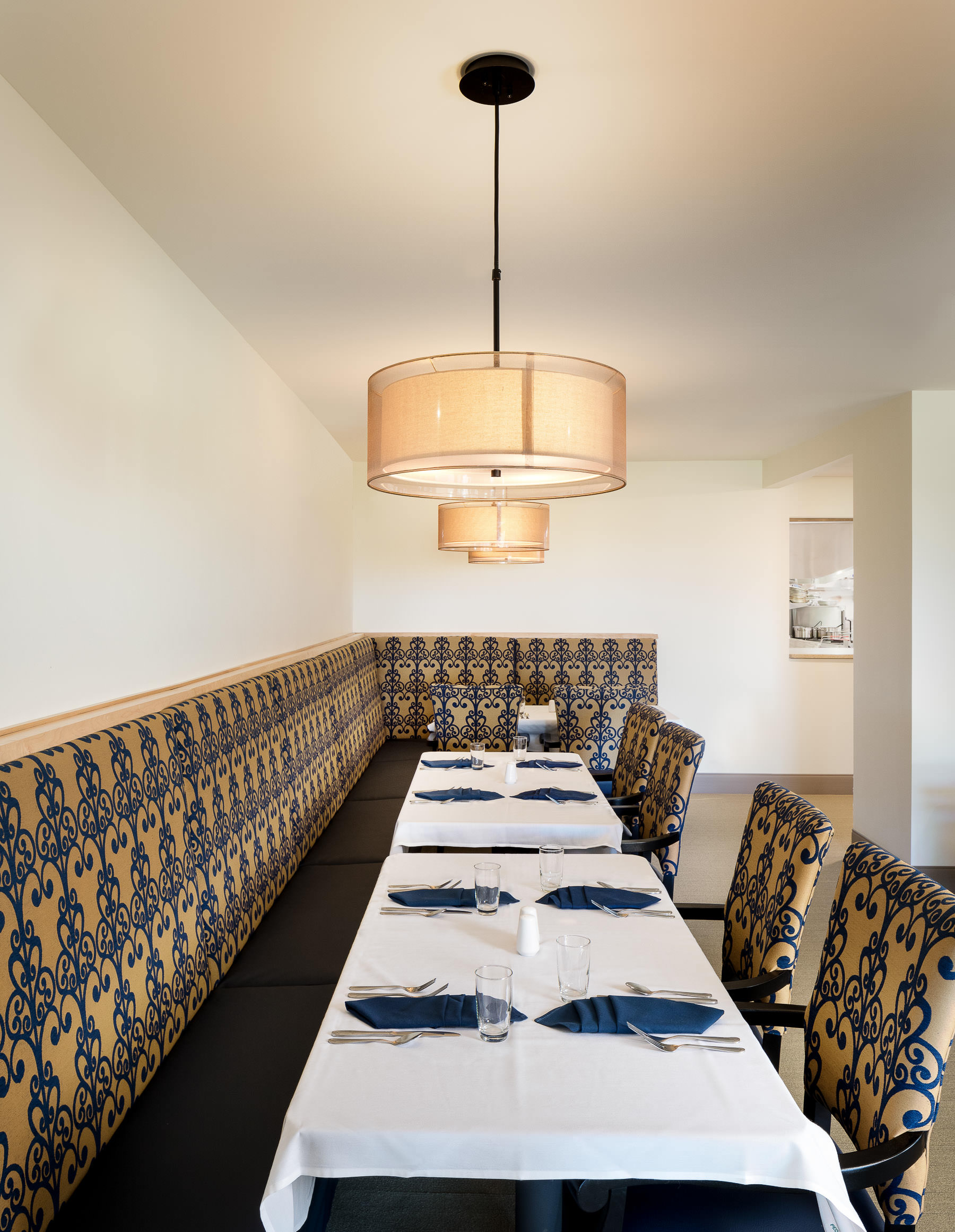 the dining room in the Strode Independent Living Facility in Randolph by Vermont commercial photographer Stina Booth