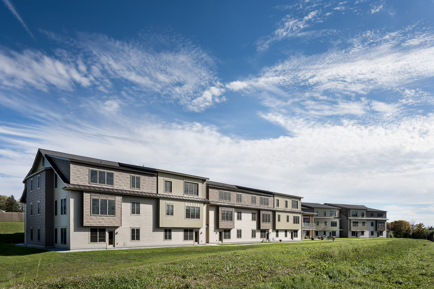 An overall view of the Strode Independent Living Facility in Randolph by Vermont commercial photographer Stina Booth